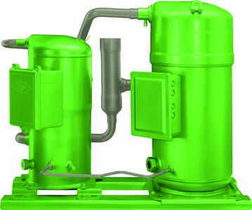 With the BITZER Advanced Header Technology (BAHT), ORBIT scroll compressors can easily be connected in parallel into groups of two or three units, and that is even possible with differing compressors or if one is frequency-controlled.