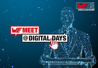meet @ digital days vom 26. bis 29. April 2021 – vier Tage geballtes Know-how des Elektronikspezialisten Würth Elektronik, Bilddquelle: Würth Elektronik