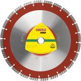 Die Diamanttrennscheibe DT 350 BT Extra von Klingspor für Beton und Betonerzeugnisse. Spezielle Turbosegmente sorgen für eine sehr hohe Schnittgeschwindigkeit. Sie trennt leicht und vibrationsarm. Ihr ihr optimales Preis-Leistungsverhältnis macht die Scheibe besonders interessant.