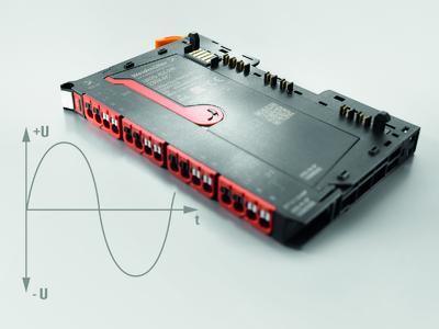 """Weidmüller """"u-remote"""": Das """"u-remote"""" 230V-AC-Modul eignet sich für 110/230-V-AC-Signale mit 50/60 Hz. Es ist kompatibel nach EN61131-2 Typ 1 und 3"""