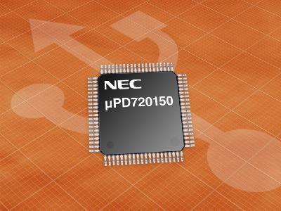 USB 2.0-Controller µPD720150 mit integrierter Host- und Peripheriefunktionalität hilft Platz und Kosten sparen