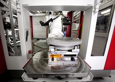 Flexibles Fertigungsystem RS 4 – Detail Rüstplatz Sensorüberwacht