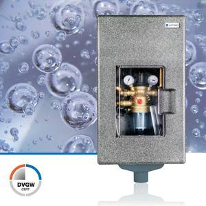 Das neue kompakte Hauswasser-System-Center HWSC von AFRISO vereint sämtliche Funktionen herkömmlicher Trinkwasserverteilungen auf kleinstem Raum und lässt sich perfekt in moderne Technik-, Keller- oder Hauswirtschaftsräume integrieren (Foto: AFRISO)