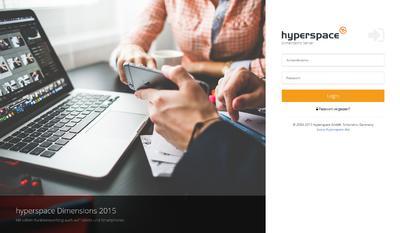 Login Bildschirm von hyperspace 2016