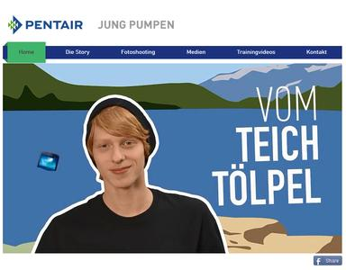 Screenshot der Internetseite www.pumpenexperte.com
