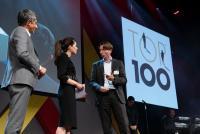 Preisverleihung im Rahmen des Top 100 Summit 2019 in Frankfurt.
