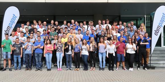 Sie starten in den Beruf bzw. das Studium – die neuen Auszubildenden bei ebm-papst in Mulfingen.