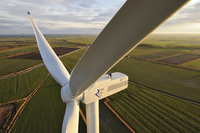 REpower Systems AG installs prototype of the REpower 3.XM onshore wind turbine near Husum, Germany