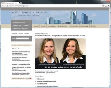 SEO und Onlinemarketing - Kanzlei Schmidt & Kollegen Rechtsanwälte Notarin, Frankfurt
