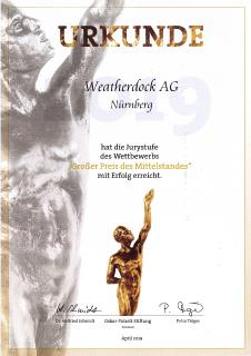 Weatherdock big step forward in German Midsize Companies Award 2019