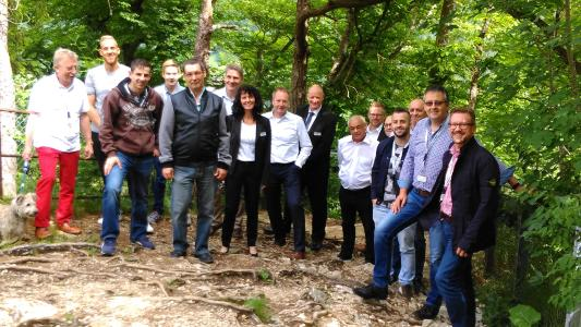 Die Führung durchs wildromantische Donautal begeistert die Teilnehmer am OPERTIS Partnertag