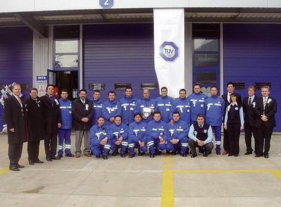 Eröffnung der Prüfstation in Trabzon am 10. Februar 2008. Respektabel große Mitarbeitergruppe und Gäste zur Eröffnung