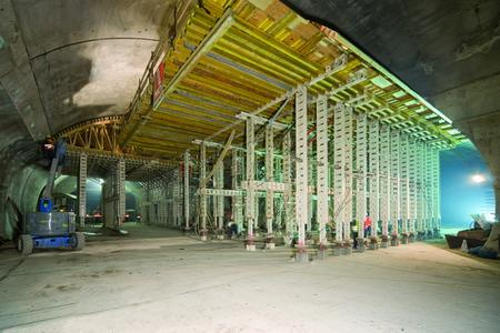 NOEtec formwork carriages for the emergency bay (left) and ventilation gallery (right)