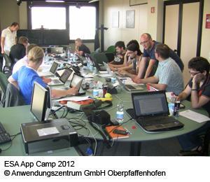 ESA App Camp 2012  ©Anwendungszentrum GmbH Oberpfaffenhofen