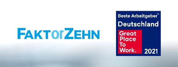 """Faktor Zehn zählt zu den Siegern des diesjährigen """"Great Place to Work""""-Wettbewerbs."""