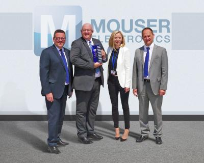 Mouser Electronics Named e-Commerce Distributor of the Year, Europe, by Vishay Intertechnology
