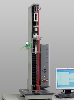 zwicki-Line materials testing machine with two test areas, allowing for example simultaneous determination of penetration force and piston travel force