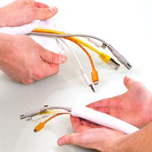 Kabelschlauch DeLuxe von www.kabelordnung.com – neue Elegance für Wohnzimmer und Büro