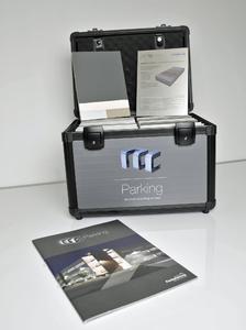 "Der Musterkoffer ""rcc Parking"" enthält unter anderem Echtmuster aller bei der Instandsetzung infrage kommenden Beschichtungssysteme, Foto: Remmers Fachplanung, Löningen"