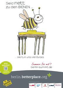 """Berlin summt! gewinnt Plakatwettbewerb """"Gute Tat mit Plakat"""": Die Draussenwerber und betterplace küren Berliner Initiative zum Schutz der Bienen zum ersten Gewinner des Mediapreises für soziale Projekte"""