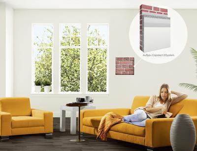 Mit dem neu entwickelten, hoch effizienten und besonders schlanken Innendämmsystem Capatect IDS Aktiv lässt sich in Wohnräumen ein behagliches Raumklima erzeugen, ohne unverhältnismäßige Einbußen an Wohnfläche hinnehmen zu müssen (Foto: Caparol Farben Lacke Bautenschutz)
