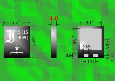 First Schottky Diodes in PowerQFN Package