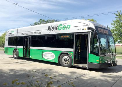 In Dayton, Knorr-Bremse subsidiary Kiepe Electric is equipping a further 15 trolleybuses with electrical traction systems. Kiepe Electric also handles final assembly of the buses / © Robert Chew
