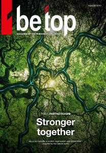 """Stronger together"":  The algorithm of the forest shows how important the networking of actors, processes and information is. The new edition of ""be top"" looks in depth at this kind of relationship. It is now also available as an online magazine for mobile reading and with exclusive additional content / Rittal GmbH & Co. KG"