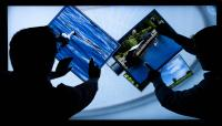 Multi-touch projected capacitive touch (PCT) technology for displays with up to 55-inch (139.7 cm) screen diagonal
