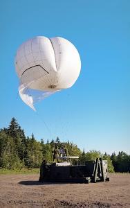 Rheinmetall Canada PSA aerostat being deployed