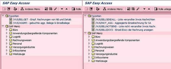 Transparente Rechnungsüberwachung für Supervisor und Shared Service Center mit BillMon: Parallel lassen sich mit dem SAP Add-on Netzrechnungen auf LIEF- (links) und NETZ-Seite (rechts) in einer Maske überwachen