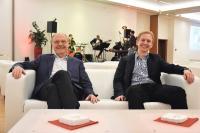 Zwei Generationen der mesonic-Geschäftsführung: Firmengründer Dr. Georg M. Kaes mit Sohn Dr. Georg Alexander Kaes.