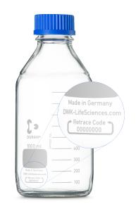 DURAN® GL 45 Laboratory Glass Bottle with Retrace Code