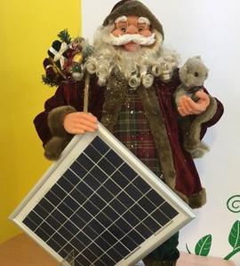Der Weihnachtsmann liefert den Strom zum Bügeln