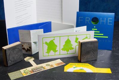 Gestanzte Printprodukte von ditges print+more aus Siegburg
