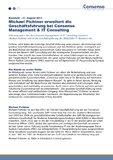 [PDF] Pressemitteilung: Michael Fichtner erweitert die Geschäftsführung bei Consenso Management & IT Consulting