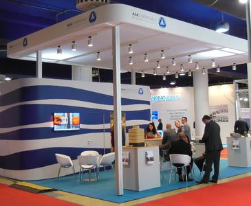 Interesting talks at the ASK Chemicals booth in Moscow