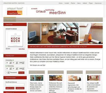 Das artepuri-Hotel meerSinn in Binz auf Rügen ist mit einer neuen Website online.