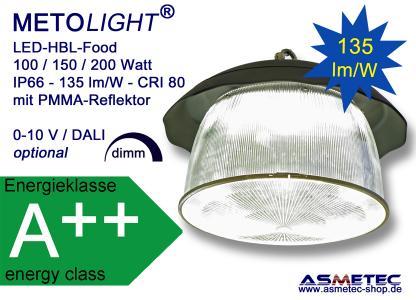 METOLIGHT LED-HBL-UFO-Food mit PMMA-Reflektor