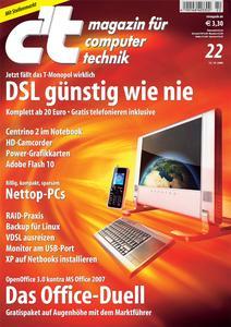 Das Titelbild der aktuellen c't-Ausgabe 22/2008