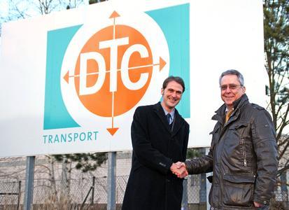 Kooperation: Ralf Greshake, Hellmann, und Wolfgang Grimm, DTC, arbeiten künftig bei Türkei-Verkehren zusammen