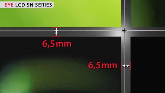 6.5 mm ultra narrow bezel