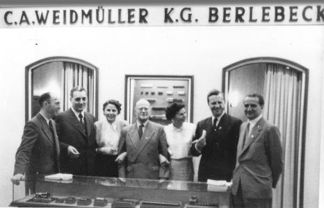 1952 war Weidmüller erstmalig mit einem kleinen Sortiment auf der Hannover Messe vertreten