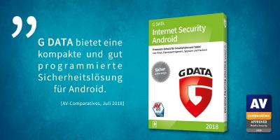 AV-Comparatives: Perfektes Ergebnis im Test für G DATA Internet Security Android