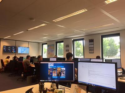 Blick in das Büro von e-LLIS Logistic Solutions am Flughafen Maastricht (Bildquelle: e-LLIS)