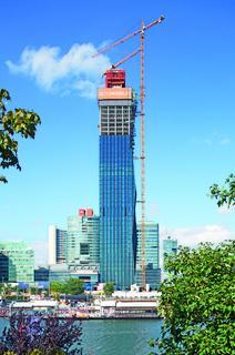 Der äußerst schlanke und 220 m hohe DC Tower wird das neue Wahrzeichen Wiens (Foto: PERI GmbH)