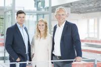 Die Weicon Geschäftsführung v.l. Timo Gratilow, Ann-Katrin und Ralph Weidling