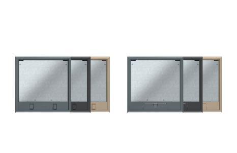 Der neue Geräteeinsatz GES9-3 ist mit zwei verschiedenen Deckeln und in drei Farben erhältlich