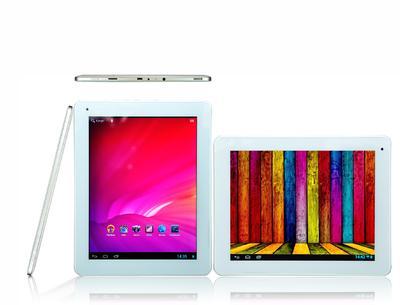 """BULLMAN Tablet TAB9 AQQR (9.7""""Retina) mit 2048 x 1536 Pixel und 2x Quadcore für € 299,-."""