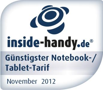 Tarif Awards günstigster Notebook-/ Tablet-Tarif